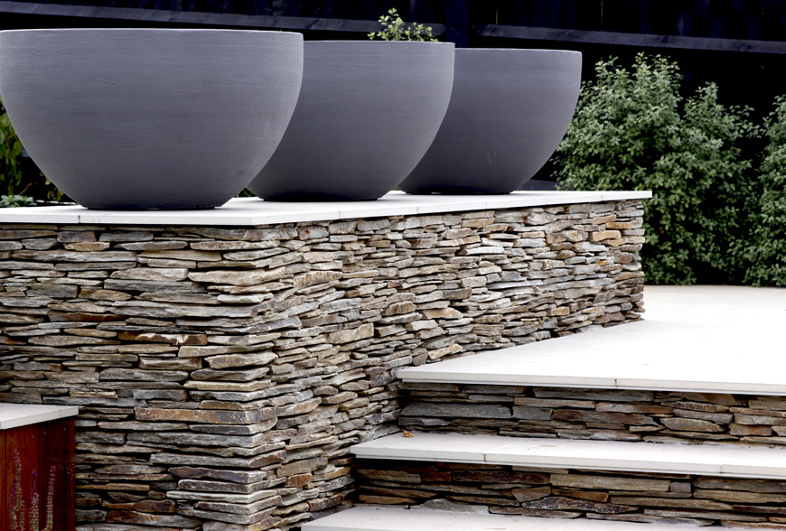 quartz paddlestone feature wall