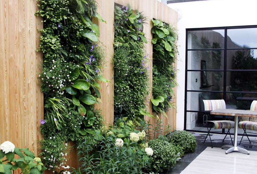 vertical living art in our greenwich garden design by greencube