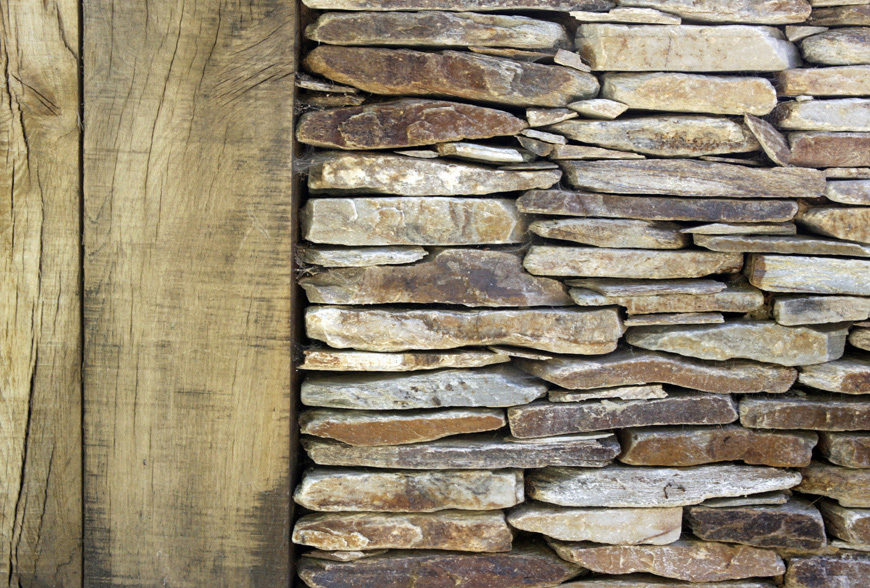 greencube garden design contrast quartz paddlestone and oak to create a stunning wall in platt, kent