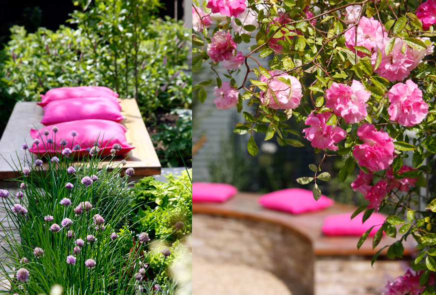 pretty in pink, tunbridge wells, kent by greencube garden design