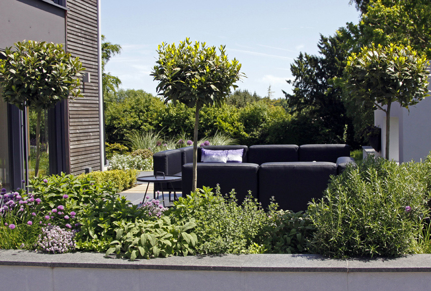 a large herb planter is functional and scented in our speldhurst, kent garden by greencube